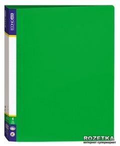 Папка пластиковая Economix А4 700 мкм на 4 кольца Зеленая (30702-04)