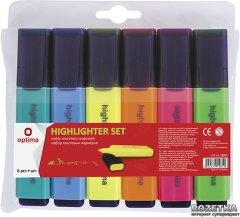 Набор текстовых маркеров 6 шт Optima 1 - 4.5 мм Цветные (15811)
