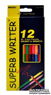 Карандаши цветные Marco Superb Writer двухсторонние 12 штук 24 цвета (4110-12CB)