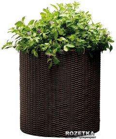 Горшок для цветов Keter Cylinder Planter M Коричневый (7290103664190)