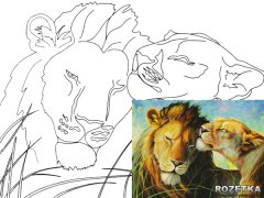 Холст Rosa Start Животные №3 на картоне с контуром 30 х 40 см (4820149894515)