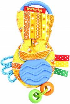 Развивающая игрушка Macik Ушки с прорезывателем Желтые (МС 030601-03)