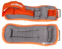 Утяжелители LiveUp Wrist/Ankle Weights 2 шт по 0.5 кг Orange-Grey (LS3049-05)