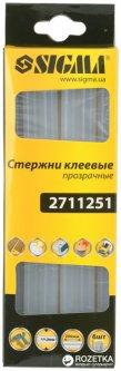 Клеевые стержни Sigma 11.2 x 200 мм прозрачные 6 шт (2711251)
