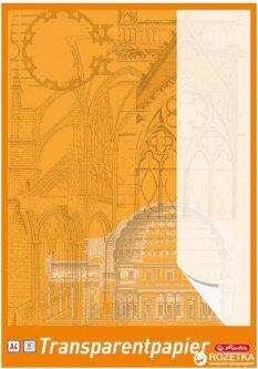 Бумага калька Herlitz А4 65 г/м2 30 листов Белая полупрозрачная (696401)