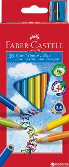 Набор цветных карандашей Faber-Castell Jumbo 20 шт (8991761345023)