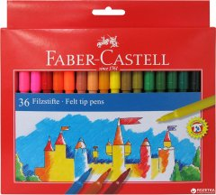 Набор фломастеров Faber-Castell Felt Tip 36 цветов (8591272000673)