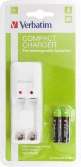Зарядное устройство Verbatim Compact Charger + 2 AAA (49944)