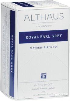 Чай черный с добавками пакетированный Althaus Royal Earl Grey 20 х 1.75 г (4001258002712_4260312440956)