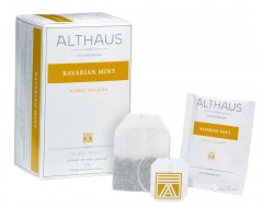 Чай травяной пакетированный Althaus Bavarian Mint 20 x 1.75 г (4260312441014)