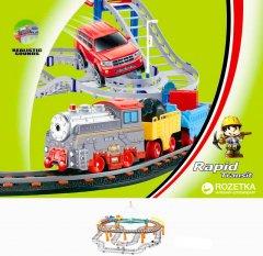 Железная дорога Lixin с поездом и машинкой 74х60см (9910)
