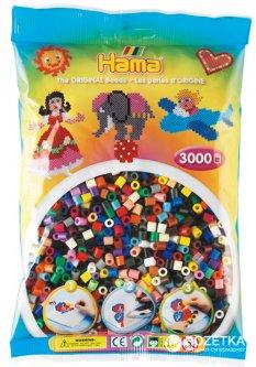 Набор цветных бусин Hama Midi 5+ 22 цвета 3000 шт (201-67)