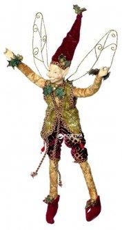 Фигурка Scorpio Эльф новогодний 30 см Золотистый (570622)(4820005706228)