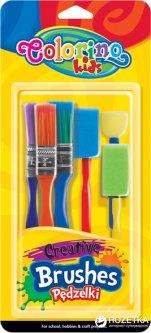 Набор кистей Colorino Creative в блистере 3 кисти и 3 спонжа (39031PTR)