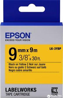 Картридж с лентой Epson LabelWorks LK3YBP 9 мм 9 м Black/Yellow (C53S653002)