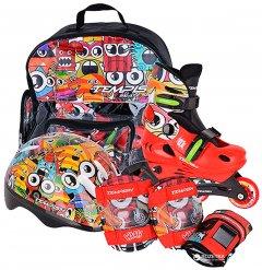 Роликовые коньки раздвижные Tempish Monster Baby skate размер 34-37 Красные (1000000005/34-37)