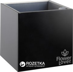 Умный вазон Plastkon Flower Lover Cubico 9 x 9 x 9 см Черный (8595096920353)