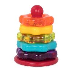 Развивающая игрушка Battat Lite Цветная пирамидка 7 предметов (BT2579Z) (6900001205906)