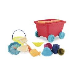 Набор для игры с песком и водой Battat Тележка Манго 11 предметов (BX1594Z) (6900001204374)