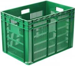 Ящик пластиковый перфорированный Полимерцентр 600х400х420 мм Зеленый (ST6442R-2-GR)