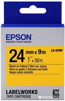 Картридж с лентой Epson LabelWorks LK6YBP 24 мм 9 м Yellow/Black (C53S656005)