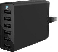 Сетевое зарядное устройство Anker PowerPort 60W 6xUSB V3 Black (A2123L12)