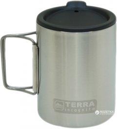 Термокружка с крышкой Terra Incognita T-Mug 350 мл W/Cap Серебристая (4823081504832)