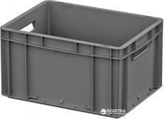 Ящик пластиковый для продуктов iPlast ЕС 400х300х220 мм Серый (12.3100.91 (ЕС-4322.1))