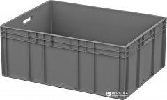 Ящик пластиковый для продуктов iPlast ЕС усиленное дно 800х600х320 мм Серый (12.314.91 (ЕС-8632.3))