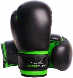 Перчатки боксерские PowerPlay 3004 JR 6 унций Black/Green (PP_3004JR_6oz_Black/Green)