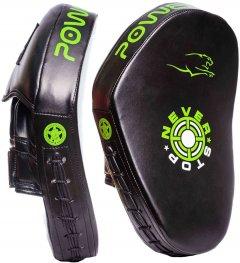 Лапы боксерские PowerPlay 3051 Black-Green (PP_3051_Green)