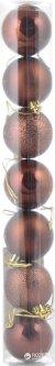 Набор елочных шаров Новогодько (YES! Fun) 50 мм 7 шт Коричневый (972555) (5056137103768)