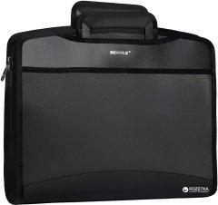 Портфель пластиковый Scholz А4 8 отделения Черный (8591662508093)