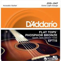 D'Addario EFT15 Flat Tops Extra Light (10-47)