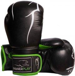 Боксерские перчатки PowerPlay 3018 10 унций Black/Green (PP_3018_10oz_Black/Green)