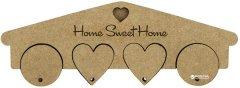 Ключница Rosa Talent Home Sweet Home 4 брелка 25.2х1.2х8.7 см (4823098504566)