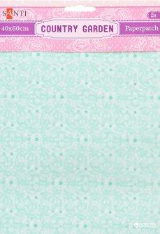 Бумага для декупажа Santi Country garden 2 листа 40 х 60 см (952511) (5009079525112)