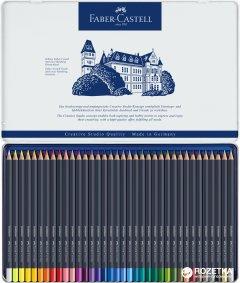 Цветные карандаши Faber-Castell Goldfaber 36 цветов в металлическом пенале (4005401147367)