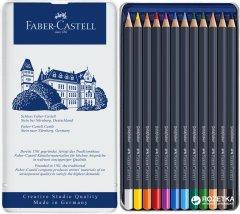 Цветные карандаши Faber-Castell Goldfaber 12 цветов в металлическом пенале (4005401147121)