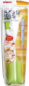 Щетка с губкой Pigeon для мытья детских бутылочек (04039) (4902508040327)