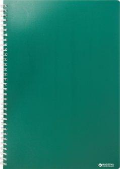 Тетрадь Buromax Classic А4 в клетку 80 листов Зеленая (BM.2446-004)