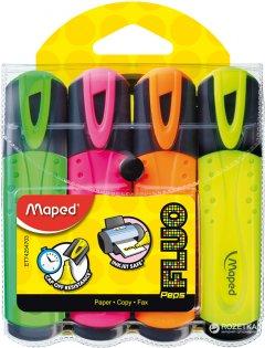 Набор текстовых маркеров Maped Fluo Peps Classic 1-5 мм 4 шт Цветные (MP.742547)