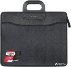 Портфель пластиковый Axent В4 на молнии 3 отделения Черный (1603-01-A)