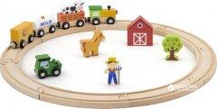 Деревянная железная дорога Viga Toys 19 элементов (51615)