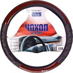 Чехол на руль Vitol HU 100107 BK M Черный с деревом