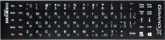 Наклейка на клавиатуру Grand-X 68 клавиш Украинский / Английский / Русский (GXDPGW)