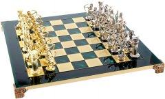 Шахматы Manopoulos Лучники в деревянном футляре 44х44 см Зеленые (S10GRE)