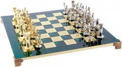 Шахматы Manopoulos Греко-Римский период в деревянном футляре 44х44 см Зеленые (S11GRE)