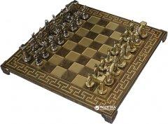 Шахматы Manopoulos Спартанские воины в деревянном футляре 28х28 см Коричневые (S16MBRO)