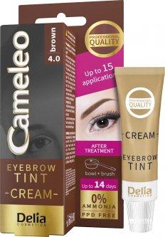 Крем-краска для бровей Delia cosmetics Cameleo 4.0 Коричневый 15 мл (5901350441947)